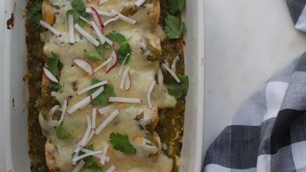 Salsa Verde Enchiladas recipe