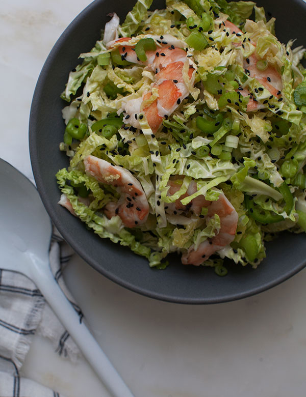 Savory Cabbage Shrimp Salad recipe