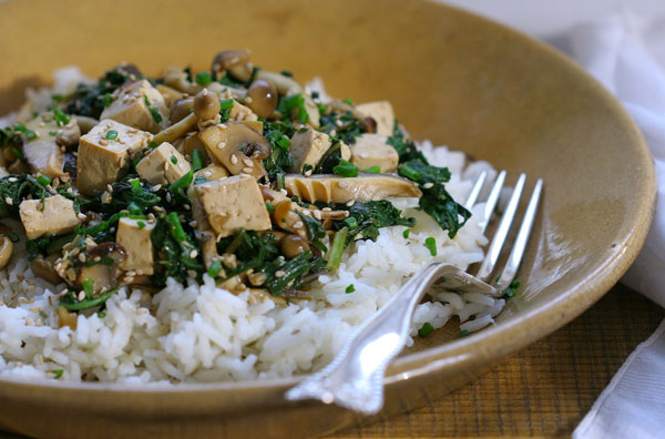 Tofu and Spring Greens Stir Fry recipe