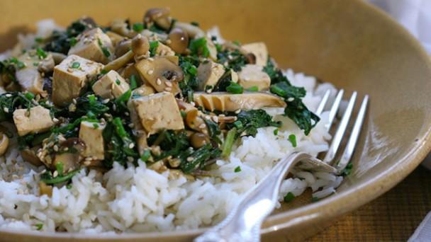 Tofu and Spring Greens Stir Fry recipe