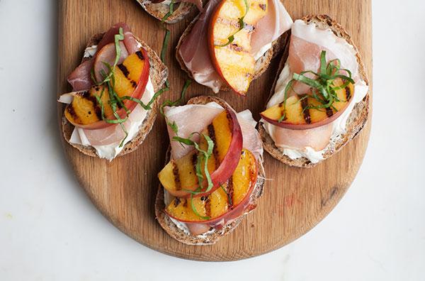 Peach Toasts recipe