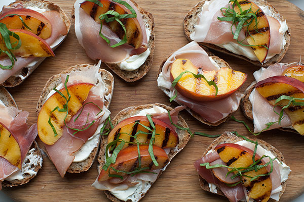 Peach Toasts recipe