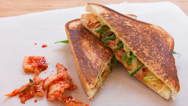 Kimchi Grilled Cheese Recipe | Sandwich Recipes | PBS Food
