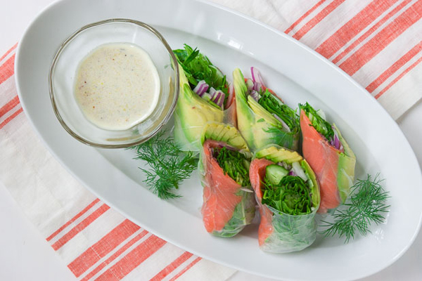 Avocado Lox Summer Roll recipe
