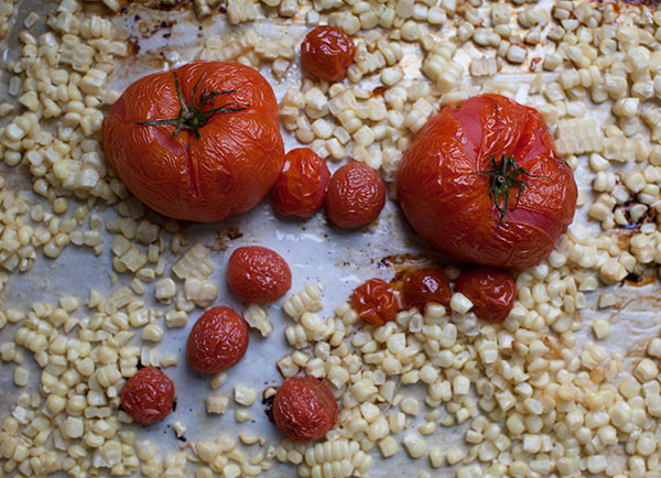 Spicy Roasted Tomato and Corn Soup recipe
