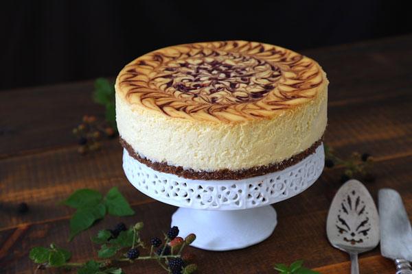Blackberry Swirl Cheesecake recipe