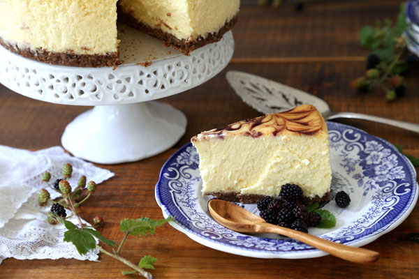 Blackberry Swirl Cheesecake recipe