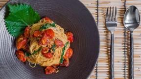 Capellini Pomodoro with Shiso recipe