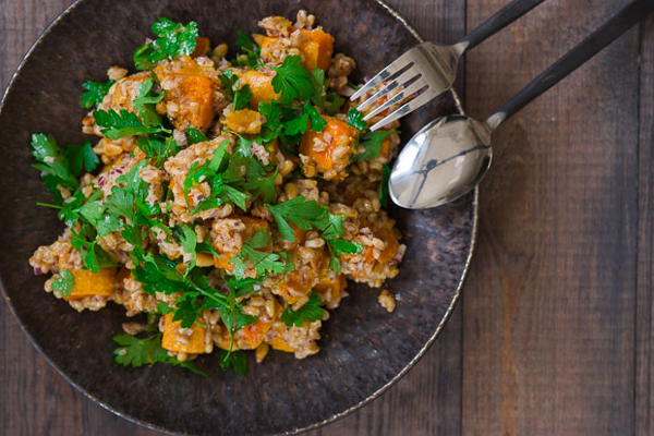 Butternut Squash Salad With Farro And Pepitas Recipe — Dishmaps