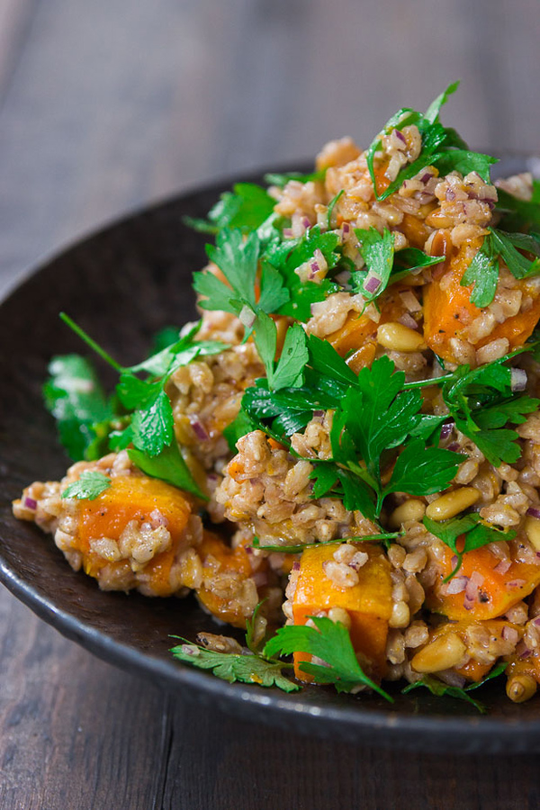 squash apple salad butternut squash salad with farro and pepitas www ...