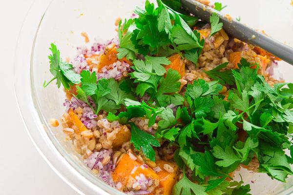 Butternut Squash and Farro Salad recipe