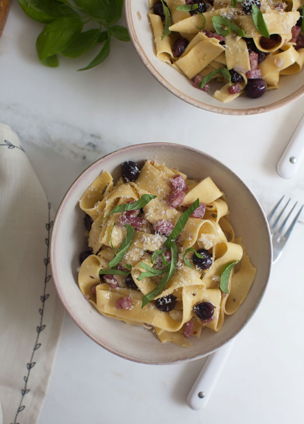 Grape and Sopressata Pasta recipe