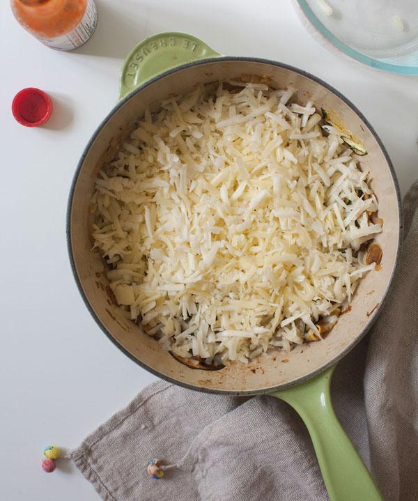 Queso Fundido recipe with Squash and Zucchini