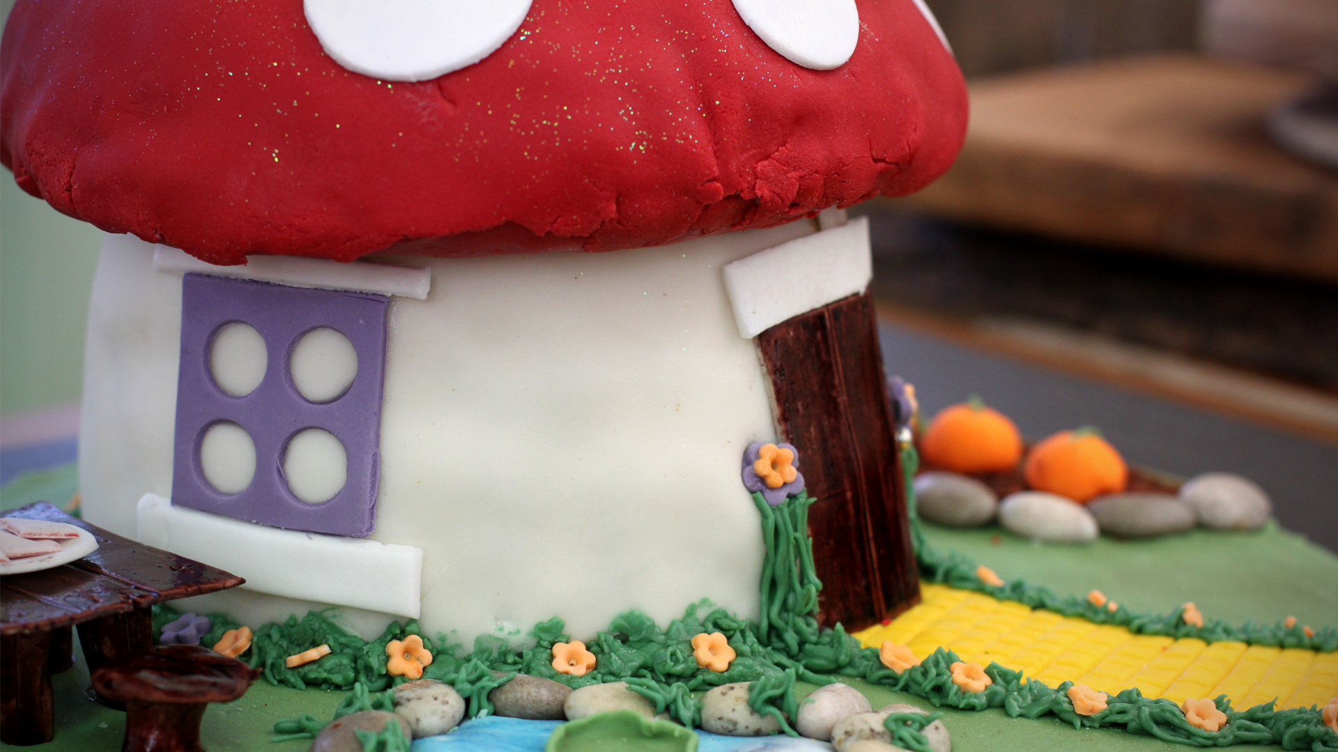 Toadstool House Novelty Cake Recipe Pbs Food
