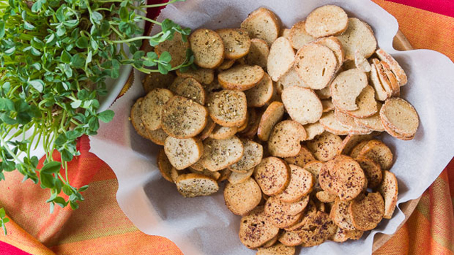 Bagel Chips recipe