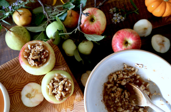Maple Walnut Baked Aples recipe