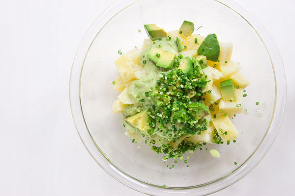 Green Potato Salad recipe