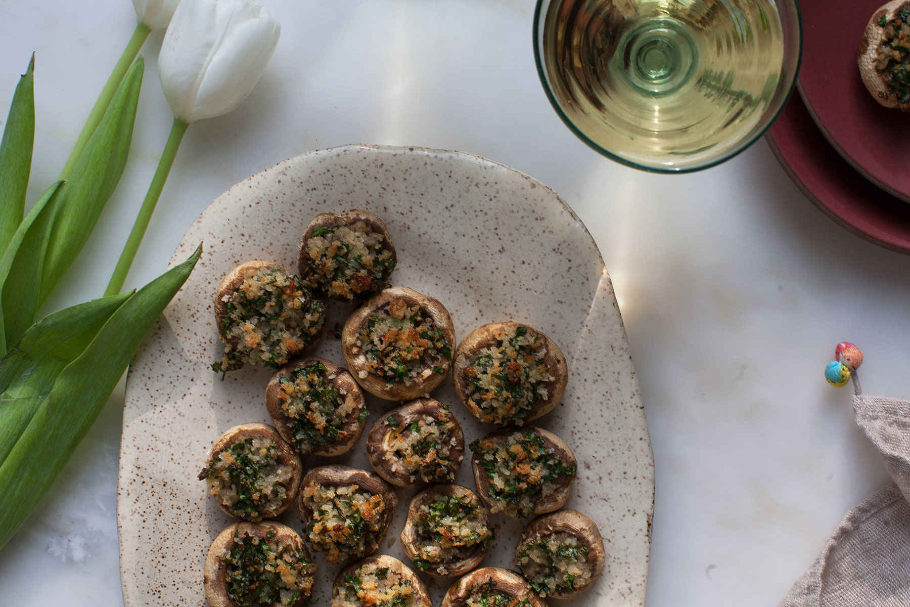 Simple stuffed mushrooms recipe pbs food forumfinder Image collections