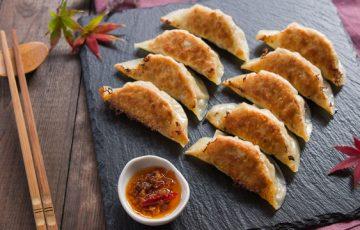 Chicken Mushroom Gyoza recipe