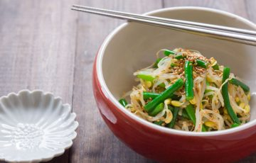 Bean Sprouts Garlic Scape Salad recipe