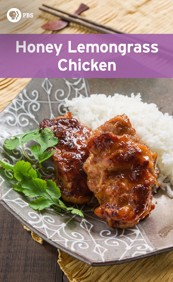 Honey Lemongrass Chicken features chicken marinated in lemongrass then caramelized in a honey glaze for a Chinese entree.