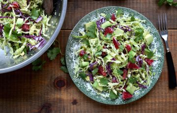 Savoy Cabbage Salad with Avocado and Blood Oranges