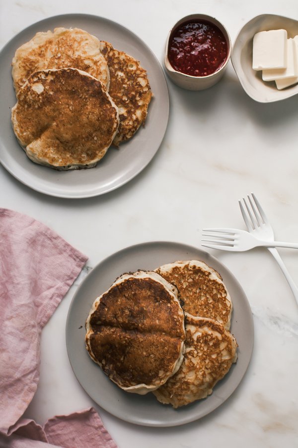 Ricotta Pancakes with Simmered Pancakes recipe