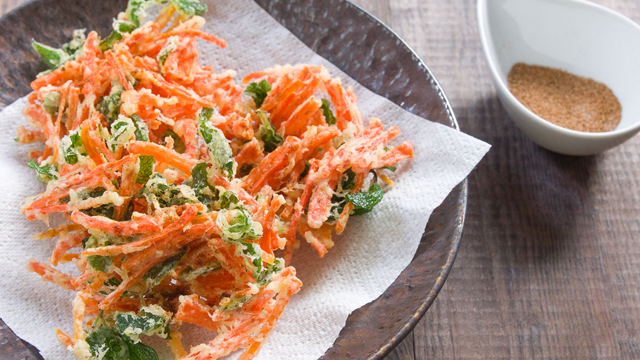 Crispy Carrot and Mint Fritters recipe