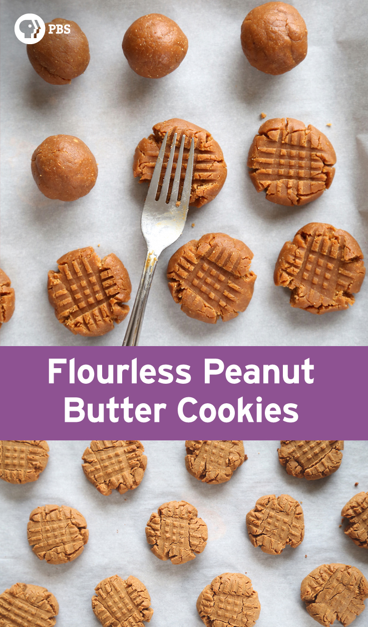 Flourless Peanut Butter Cookies Recipe | Kitchen Vignettes | PBS Food