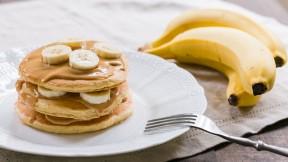 Peanut Butter Banana Pancakes Recipe