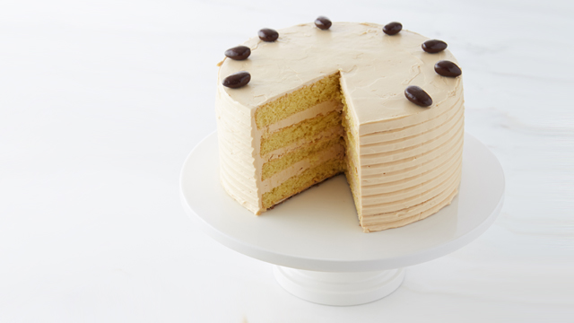 Strange Caramel Buttercream Layer Cake Recipe Dessert Recipes Pbs Food Funny Birthday Cards Online Overcheapnameinfo
