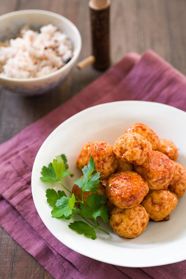 This Chicken Teriyaki Meatballs recipe has only three ingredients in the sauce, and it caramelizes the chicken.