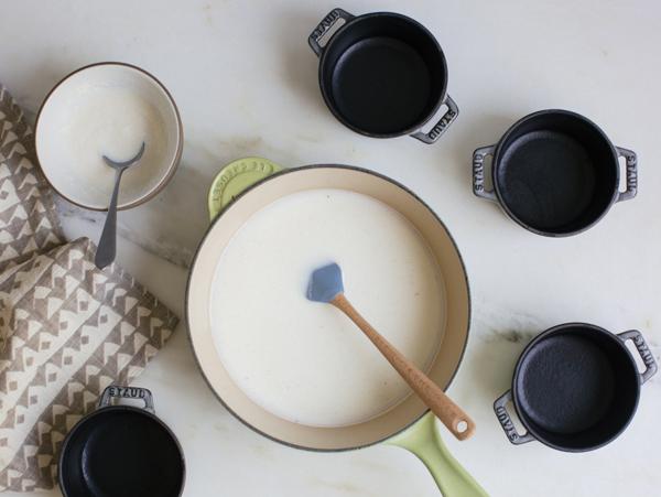 Kefir Panna Cotta is similar to yogurt and granola with a soft texture.