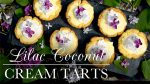 Lilac Coconut Cream Tarts recipe