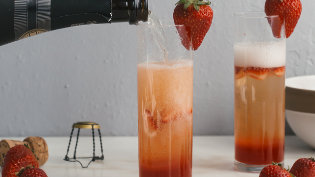 Toast Mom with Strawberry Rhubarb Bellinis