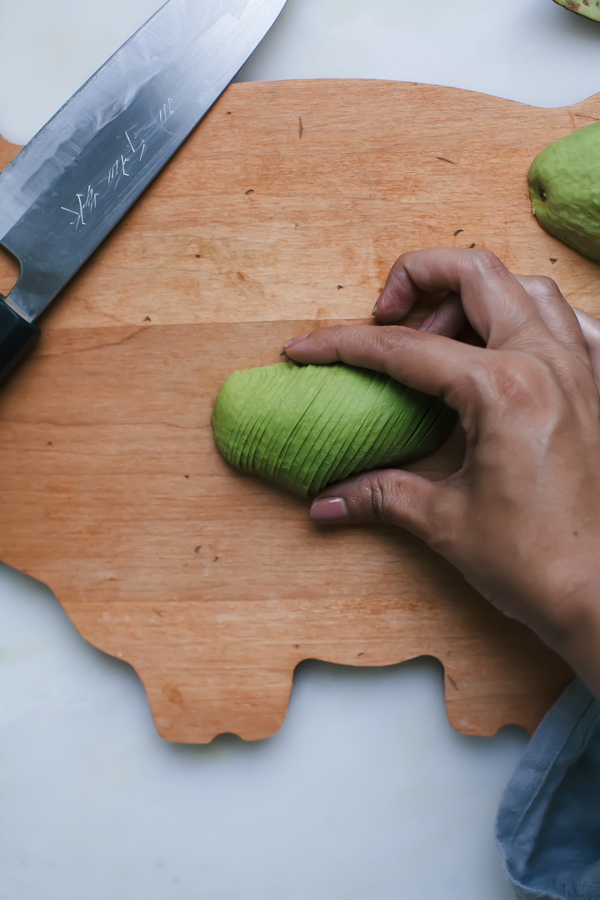 How to Make an Avocado Rose - an easy tutorial in eight simple steps