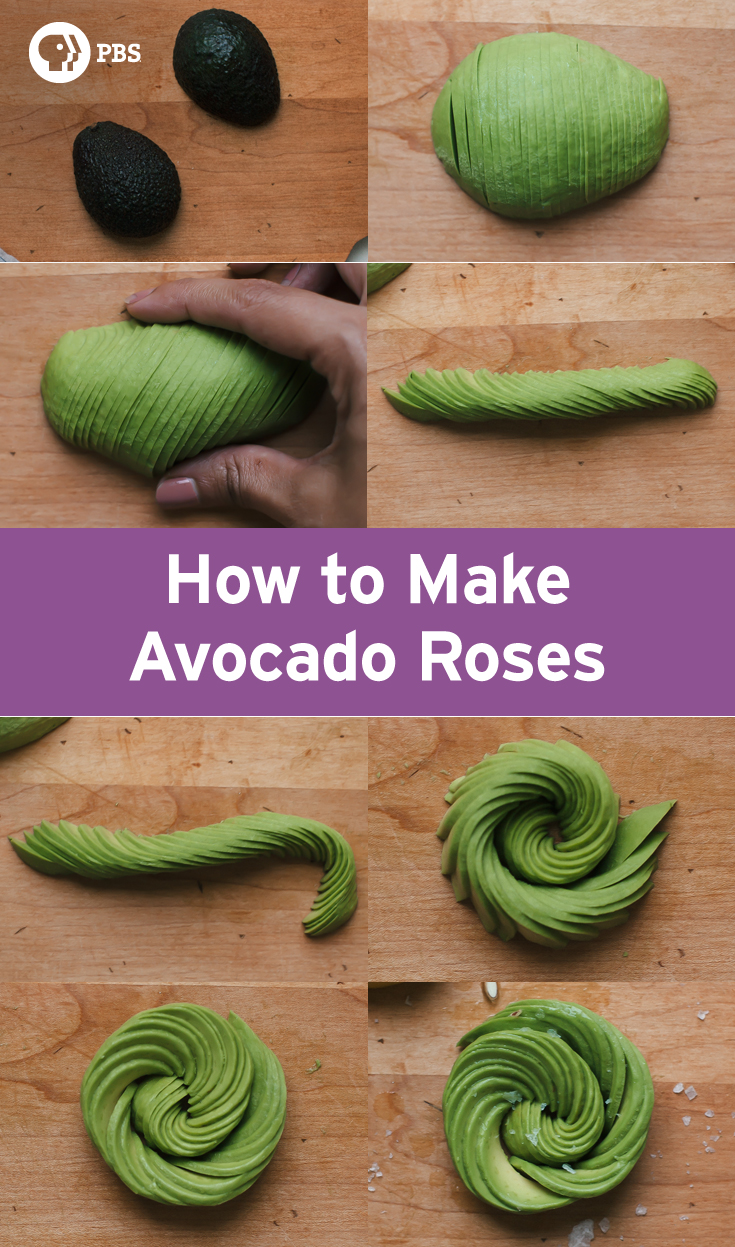 How to make an avocado rose fresh tastes blog pbs food for Cuisine rose