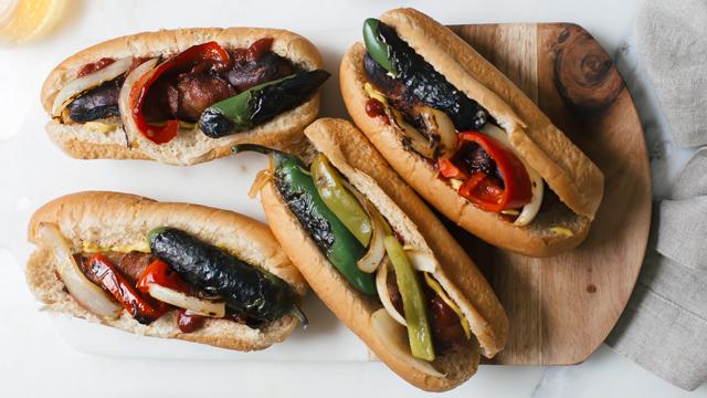 los angeles hot dog recipe grilling recipes pbs food. Black Bedroom Furniture Sets. Home Design Ideas