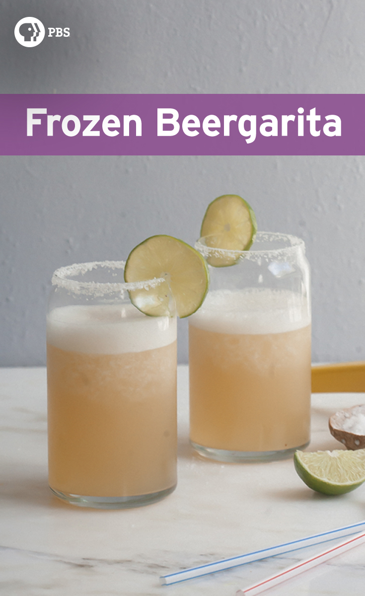 This Frozen Beergarita recipe is an easy drink to make for parties, and is the frozen Americanized version of Mexican Micheladas.