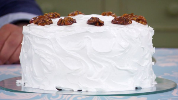 Mary's Frosted Walnut Cake