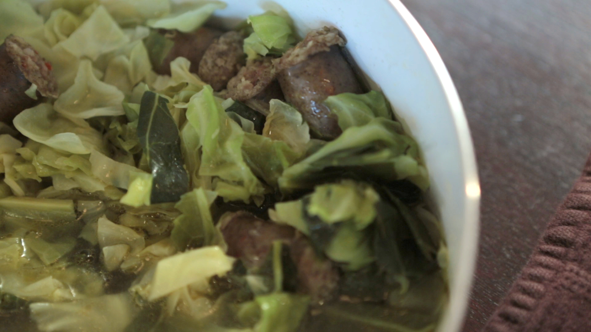Sausage stewed cabbage recipe pbs food - Cabbage stew recipes ...