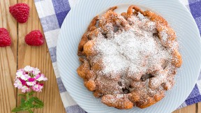Make Churro Funnel Cake for a cinnamon twist on a favorite American pastry.