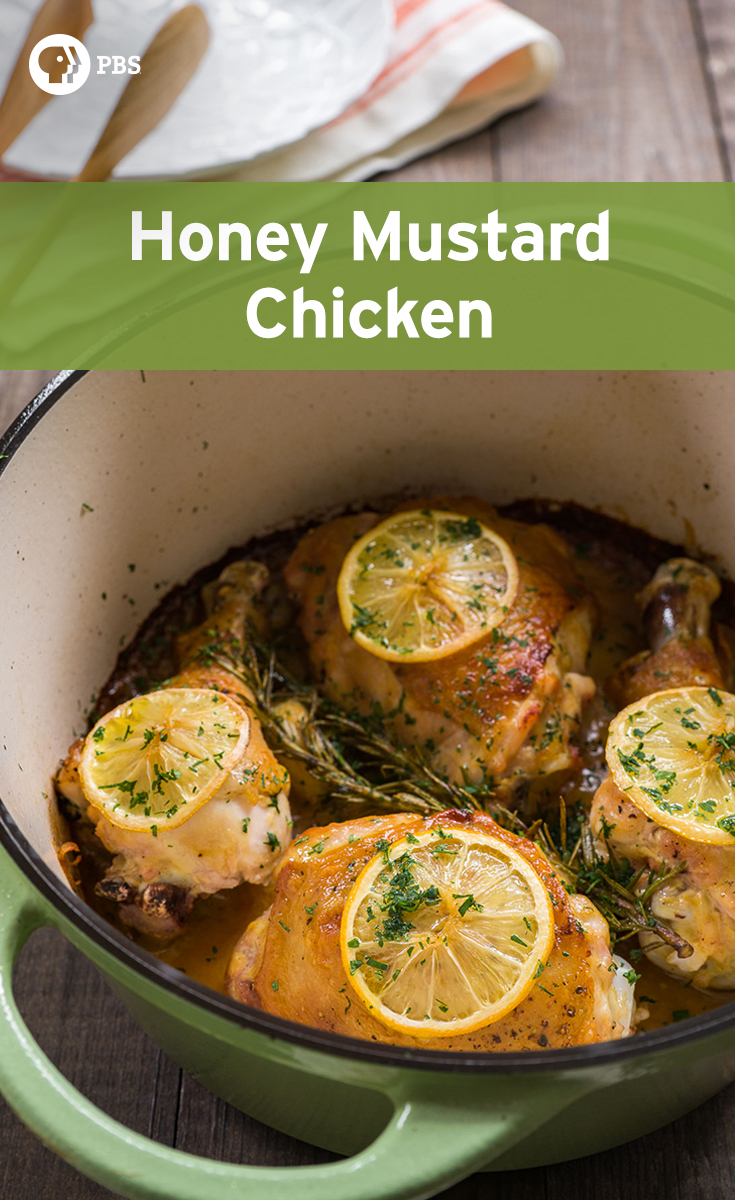 This Honey Mustard Chicken recipe only takes 40 minutes to make for an easy dinner.