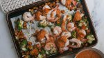 Sheet-Pan Shrimp Romesco Dinner Recipe