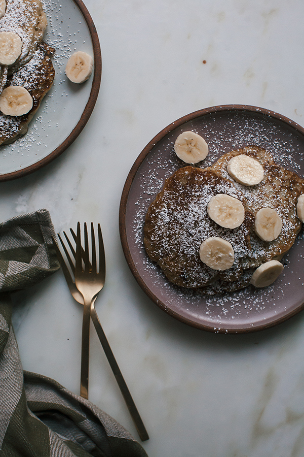 Banana Bread Pancakes are essentially a quick bread that is easy to throw together for a weekend breakfast.