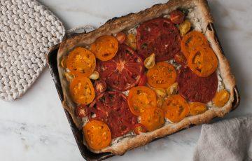 Cheesy Heirloom Tomato Tart Recipe