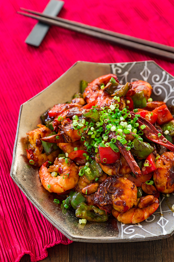 Kung pao shrimp recipe fresh tastes blog pbs food shrimp takes a turn in a twist on the chinese american takeout classic of kung forumfinder