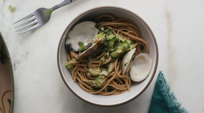 Zucchini Linguine with Clams