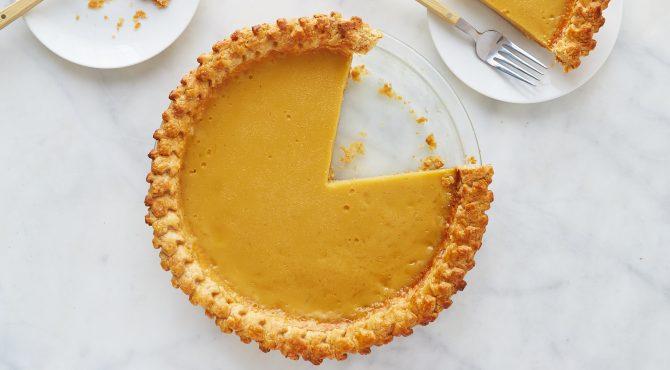 Maple Custard Pie Recipe