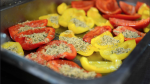 roasted peppers with breadcrumbs